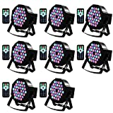 LED Up Lighting 36 RGB stage light, Missyee Sound Activated DMX Lighting Dj Par Can Lights with Remote Control for Birthday Party Wedding Bar Club Home Christmas Halloween Festival