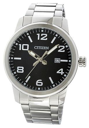 7b775f0518 [シチズン] CITIZEN 腕時計 クオーツ BI1028-55E ブラック メンズ 海外モデル [逆輸入