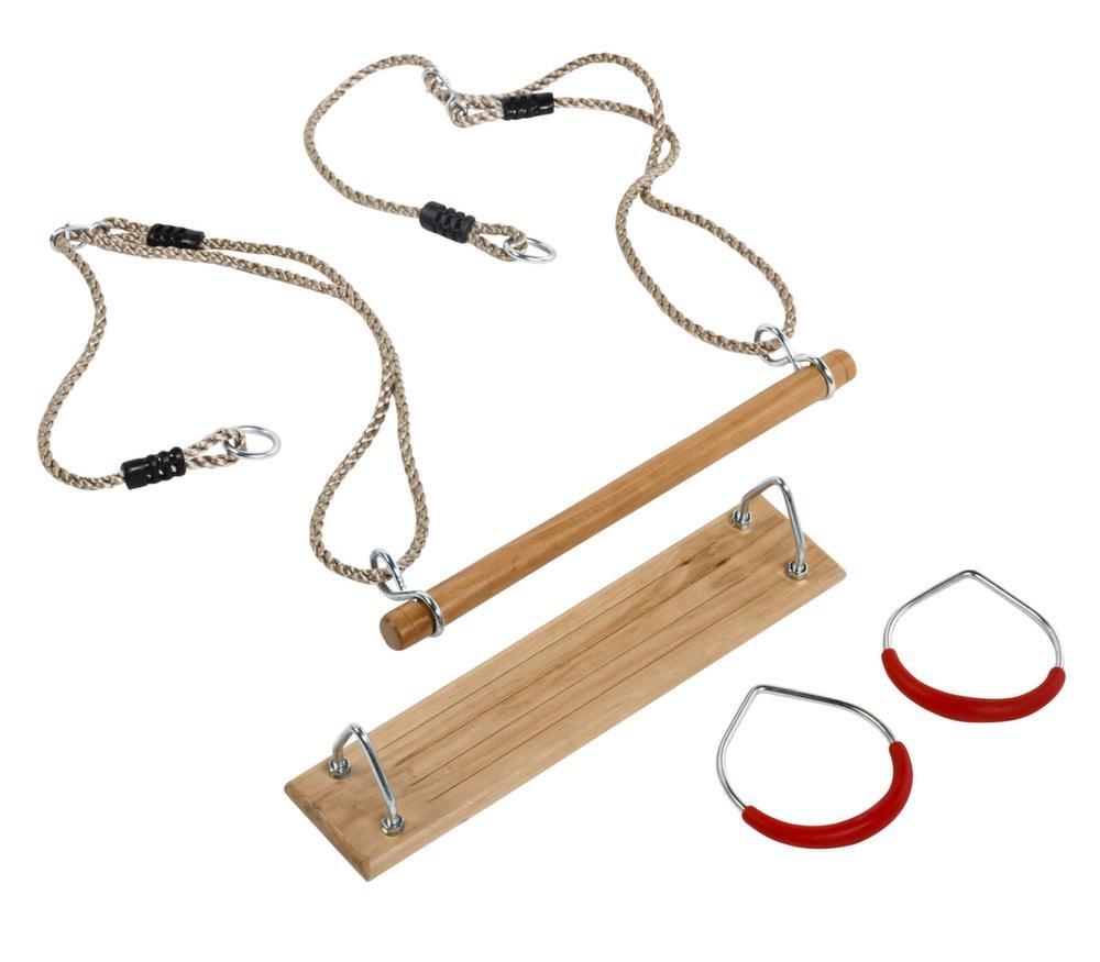 Kit 3 Accessoires balançoire + Anneaux de Gym + trapèze Kbt