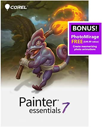 Corel | Painter Essentials 7 | Digital Art Suite | Amazon Exclusive Includes Free PhotoMirage Express Valued at $49 [PC Download]
