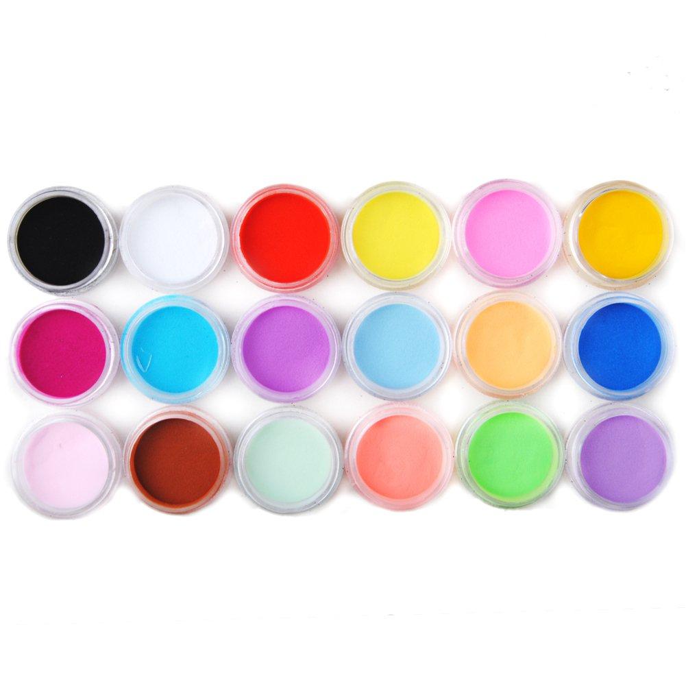 Amazon.com: Coscelia 18 Color Acrylic Powder Nail Art Tool Kit: Beauty