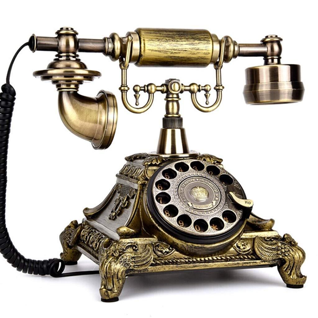 ビンテージアンティークスタイルロータリーダイヤル電話、ビンテージクラシック有線電話固定家とオフィスの装飾、2つのスタイルtから選択 (三 : Electronic ringtone) B07K26BYJZ Electronic ringtone