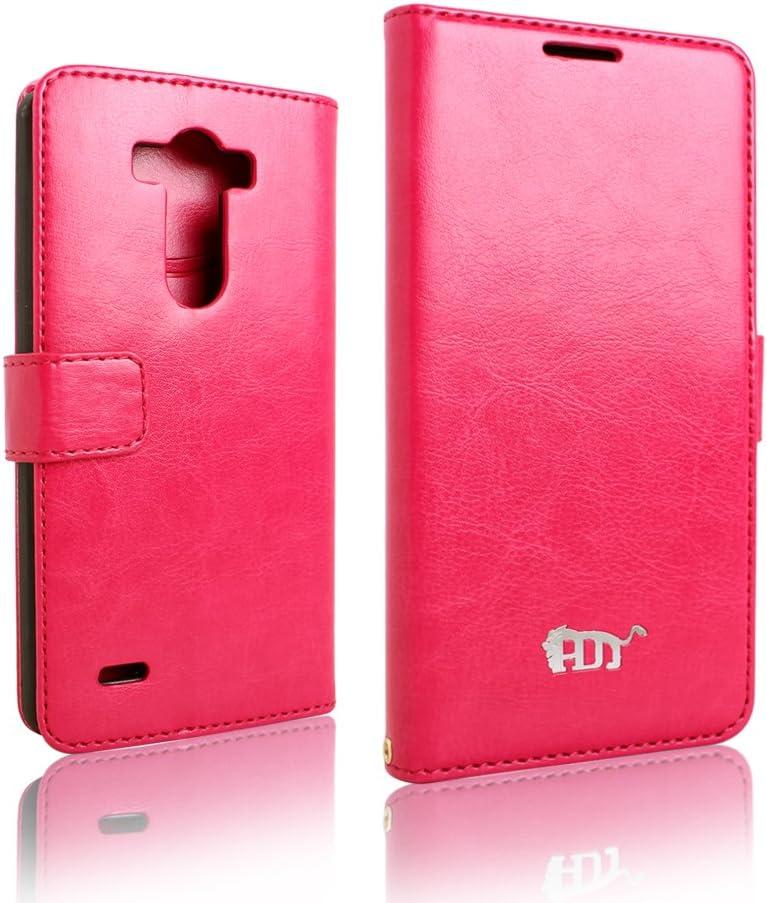 Pdncase Funda de Cuero para LG G3 LG-F400 Wallet case cover Color Rose: Amazon.es: Electrónica
