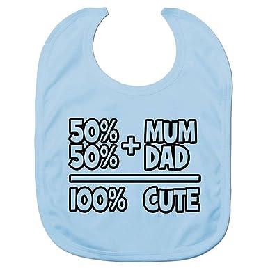 Amazon.com: Baby Boys 50% Mum 50% Dad Babies Bib One Size ...