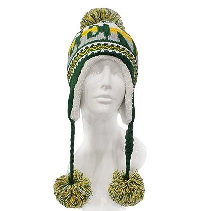 e92ed91cf47 ChoKoLids Football Team City Name Knitted Pom Pom Earflap Winter Hat - 23  Cities
