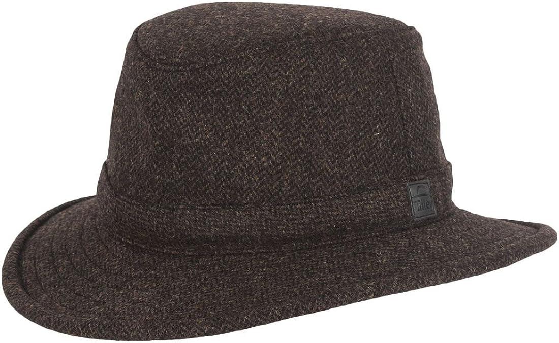 Olivgr/ün Tilley TTW2 Tec Wool Hut mit Fischgr/ätmuster