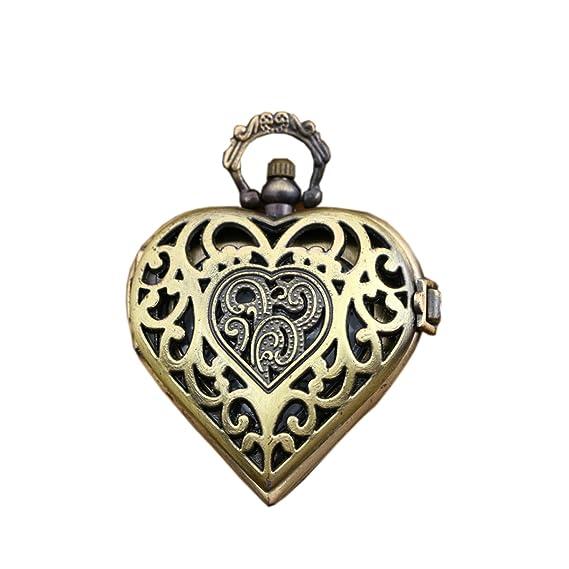 Amazon brass hollow heart shape antique pocket watch for women brass hollow heart shape antique pocket watch for women pendant watch necklace mozeypictures Choice Image