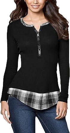 Camisas Mujer Moda Joven Elegante e Top s Cómodo Tamaños ...