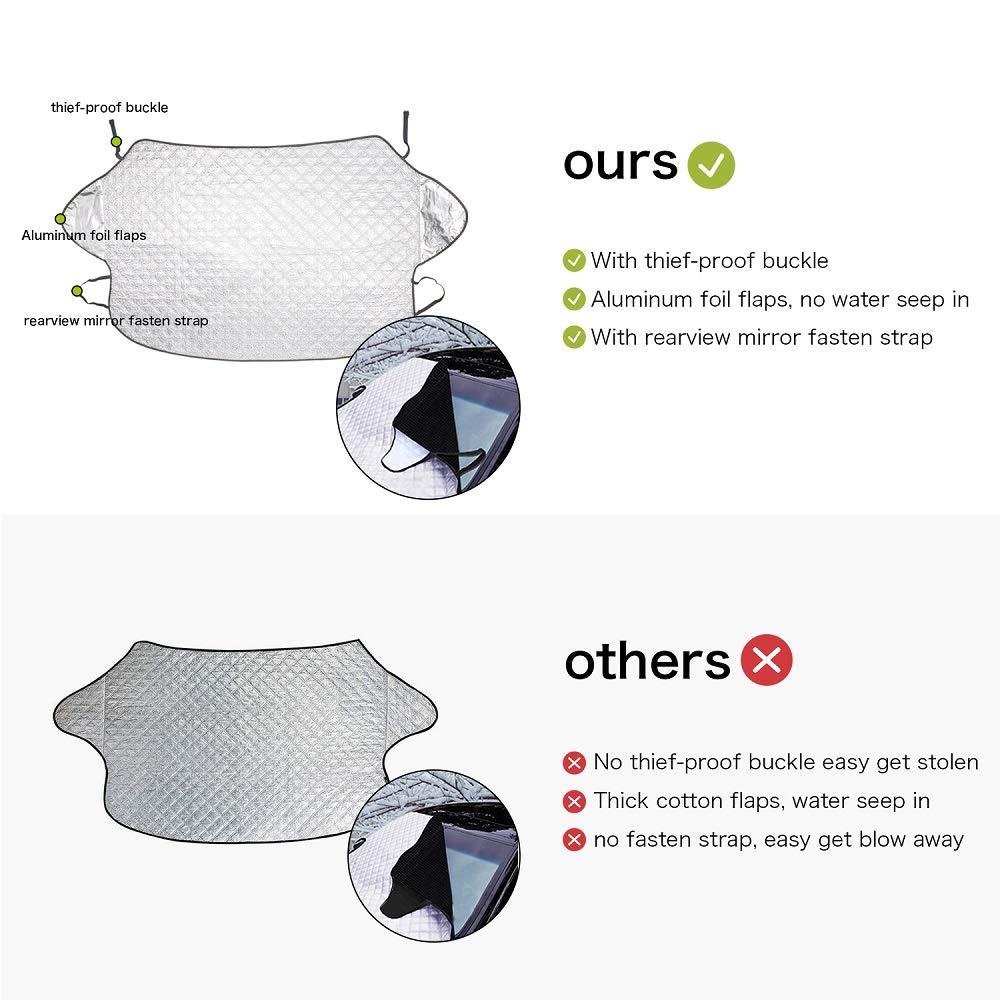 Repliable Anti Givre Anti UV 142 * 93cm pour Voiture Moyenne Pare-Soleil bedee Couverture Pare-Brise Voiture