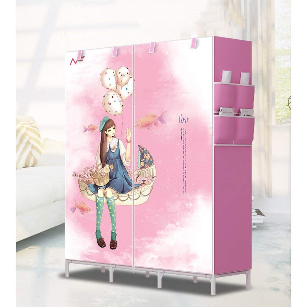 Furniture 3d Pattern Wardrobe Non-woven Folding Cloth Wardrobe Reinforcement Combination Small Closet Assembly Clothes Storage Cabinet Terrific Value Wardrobes