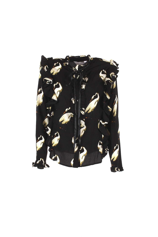 ANONYME Camicia Donna M Nero A128ft090 Autunno Inverno 2018/19