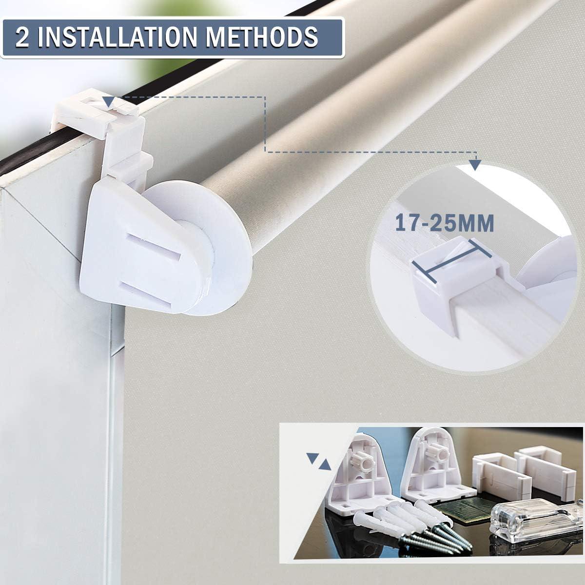 Allesin Store Enrouleur Occultant Thermique sans Per/çage Beige 45 x 130 cm Rideaux Occultant Opaque Isolant Montage Simple