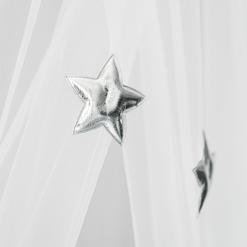 laamei Dosel para Camas Infantiles Mosquitera para Cama Princesa Cuna de Beb/és Infantil Habitaci/ón Cortina con C/úpula Redonda Dosel Algod/ón 2 65cmx250cm