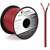 TYUMEN 100FT 16 Gauge 2pin 2 Color Red Black Cable Hookup Electrical Wire LED Strips Extension Wire 12V/24V DC Cable, 16AWG F