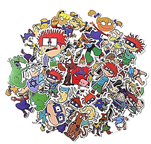 Mainstreet247 Rugrats Cartoon Set of 40 Assorted Stickers Decal Set -