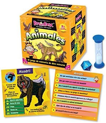 Brain Box Juego de Memoria Animales, Multicolor (Green Board Games ...