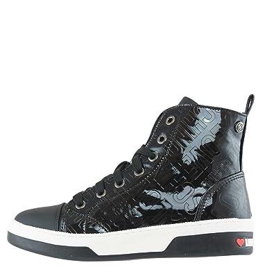 Moschino Scarpa Donna Sneakers ALTA Embossed Nero JA15323 217   Amazon.co.uk  Shoes   Bags 71ff2b0c537