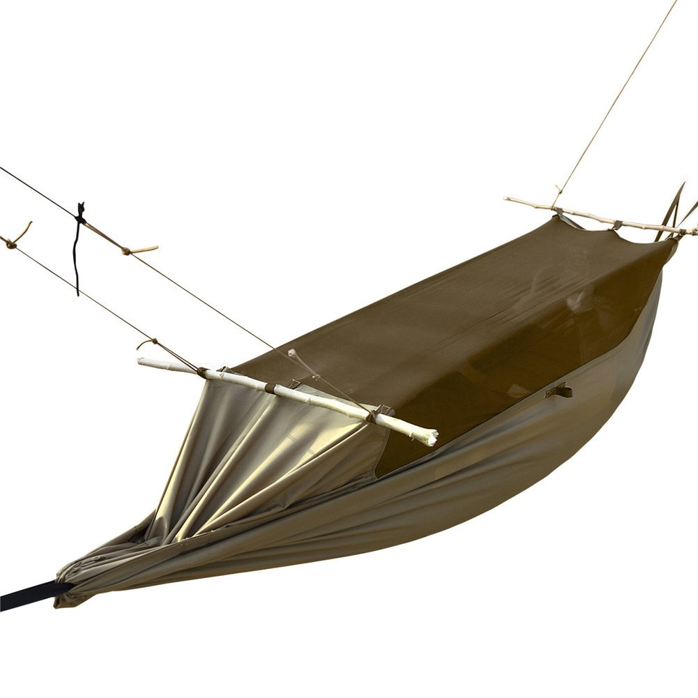 DIAOHXY Super Leichtes Moskito Netz Camping Hängematte,Wasserdicht Tragbarer Polyester Camping Wandern Im Freien Ripstop Single Hängematte-A 26090cm