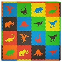 Tadpoles Playmat Set 16-Piece Dino, Multi
