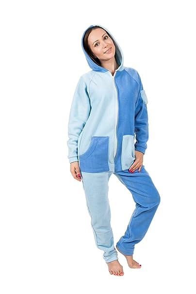 Cielo Azul Go-Jamz: Pijama Mono de Lana Unisex, Pijamas Jumpsuit de Una