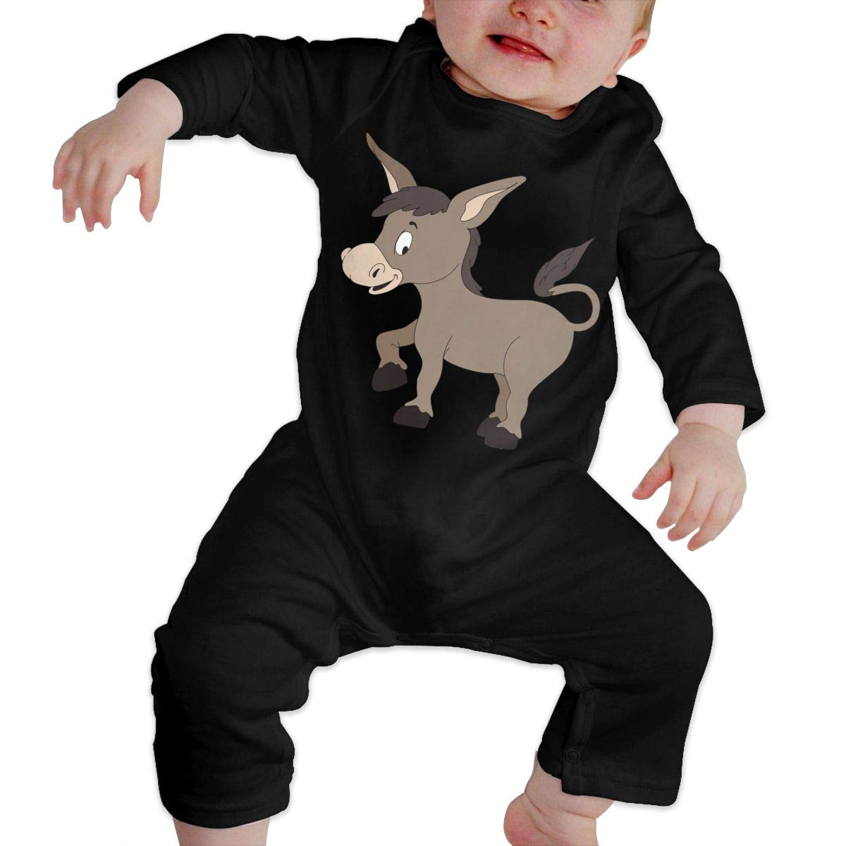 UGFGF-S3 Donkey Toddler Baby Long Sleeve Romper Jumpsuit Baby Rompers