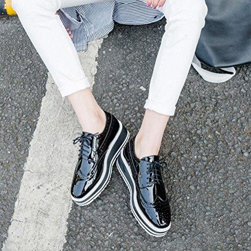 Ms. primavera e scarpe autunno con spessa con le scarpe fondo pesante pizzo scarpe scarpe delle donne , US7.5 / EU38 / UK5.5 / CN38