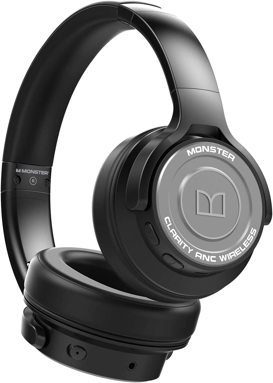 Monster Clarity ANC Headphone - Auricular inalámbrico con Bluetooth, Color Gris