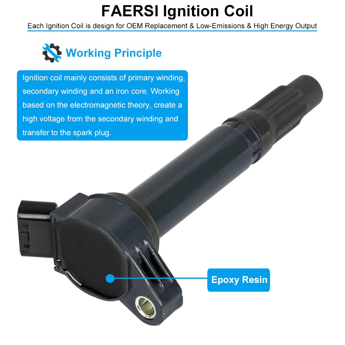 Ignition Coil Pack Of 1 Replaces 12570616 D510c For Cadillac Chevy Gmc Envoy Spark Plugs Pontiac 53l