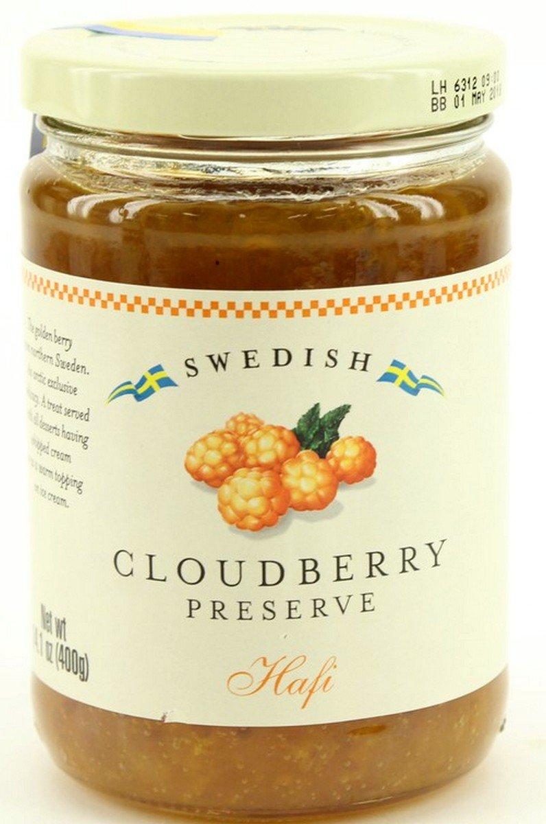 Hafi Wild Swedish Cloudberry Preserves 14.1-ounce Jars (Pack of 2)