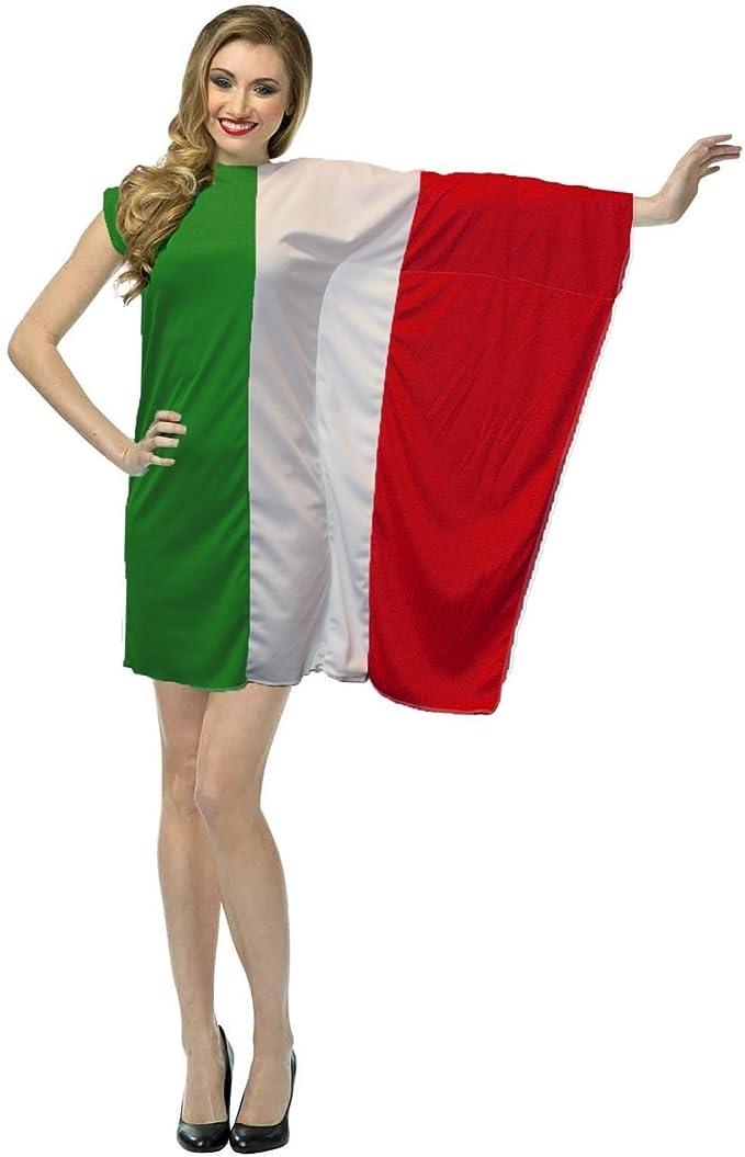 """Ladies Italy Flag 15/"""" Skater Panel Skirt Italian Fancy Dress"""