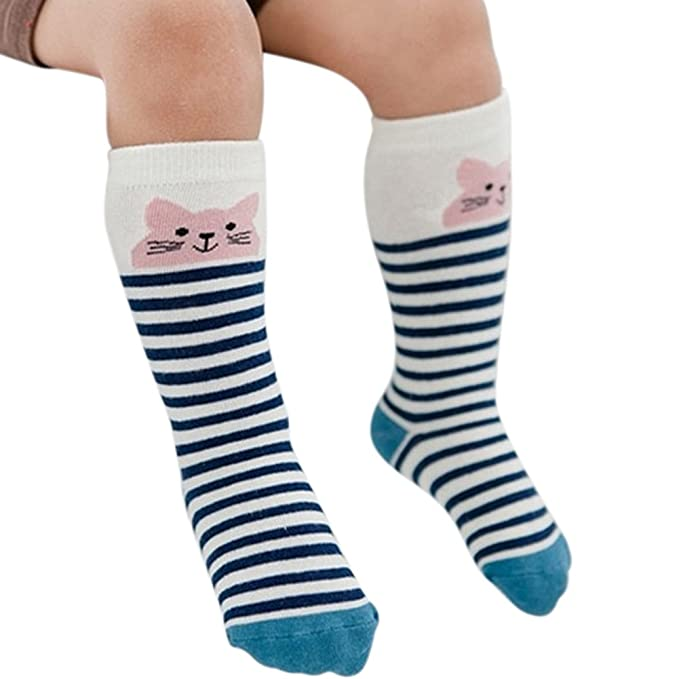 Zantec Calcetines de bebé, Los niños del bebé de dibujos animados lindo transpirable calcetines de algodón sudor absorbente ocasionales medias largas: ...