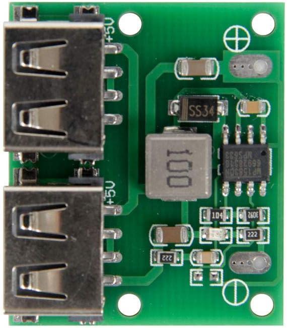 Organizer 3pcs USB DC-DC Voltage Buck Regulator Step Down Power Supply Module 9V 12V 24V to 5V Dual USB Output Buck Voltage Board 3A 6-26V Car Charge Charging Regulator