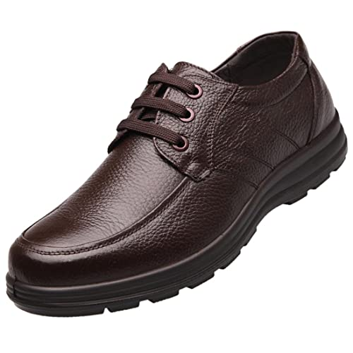 Zapatos de Cordones para Hombre, Pinji Calzado de Trabajo de Cocina Antideslizante, Zapatos para Hostelería de Camareros Resistentes al Agua, Zapatos