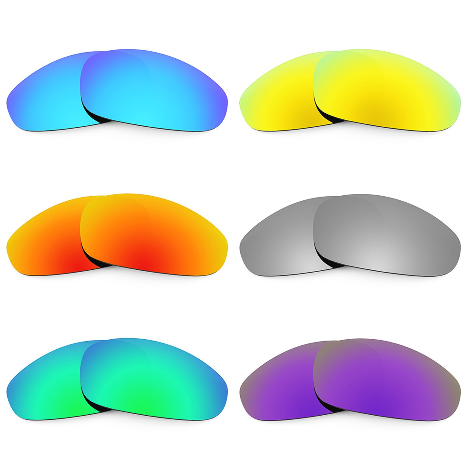 Revant Replacement Lenses for Oakley Juliet 6 Pair Combo Pack K027 by Revant