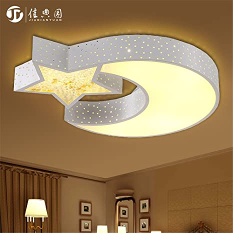 Lilamins Led Ceiling Light Creative Star Moon Boys And Girls ...