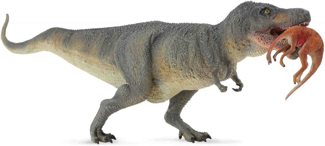CollectA Prehistoric Life Tyrannosaurs Rex with Prey (Struthiomimus) Toy Dinosaur Figure - Hand Painted & Paleontologist Approved Model