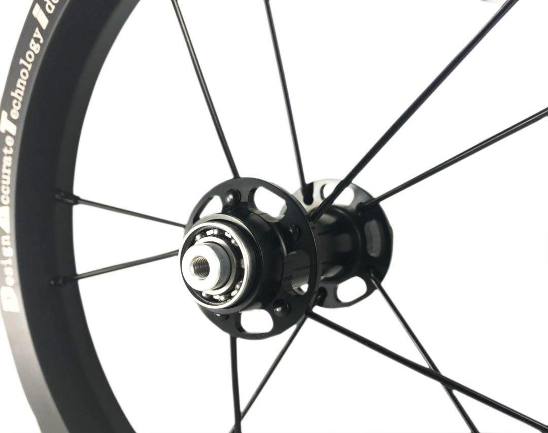 DATI 12インチ S6C-W Alloy バランスバイク Kids Balance Bike Bicycle Super light 子供自転車ホイール B07C8FVVY7黒 90x10MM for Bixbi Puky