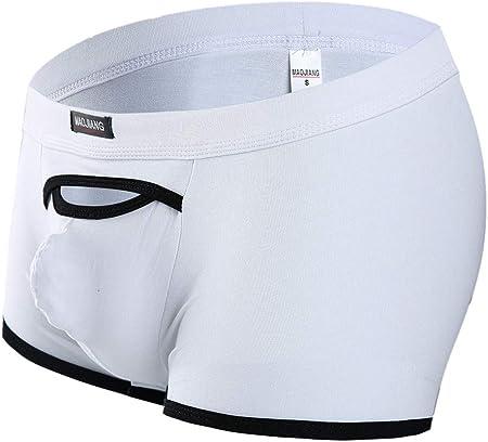 Sylar Bóxer Hombre,Hombres Sexy Doble Camiseta Transpirable Sexy Ropa Interior Ropa Interior Cotton Calzoncillos,Boxers For Leisure Portes Fitness Correr