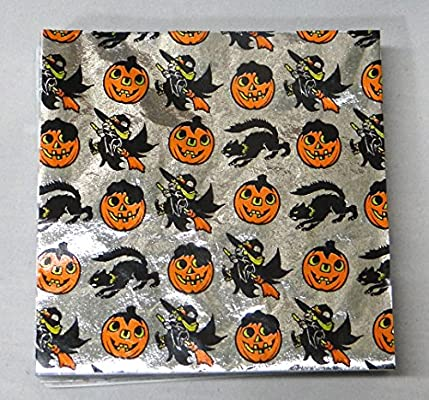 """SET OF 2 CK Products Foil Candy Wrappers 4/"""" x 4/"""" Orange 125-Pack NEW Halloween"""
