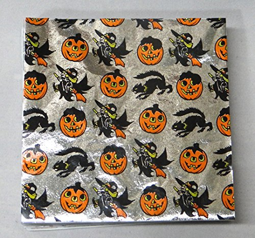 "Halloween Print 4"" x 4"" Confectionery Foil Wrappers Candy Wrappers Candy Making Supplies"
