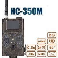 Hc-350m Trail Camera 16MP HD 1080p Vision de nuit infrarouge Wildlife Camera Timelapse écran LCD couleur 5,1cm 2G SMS MMS SMTP Chasse Scoutisme Caméra de surveillance