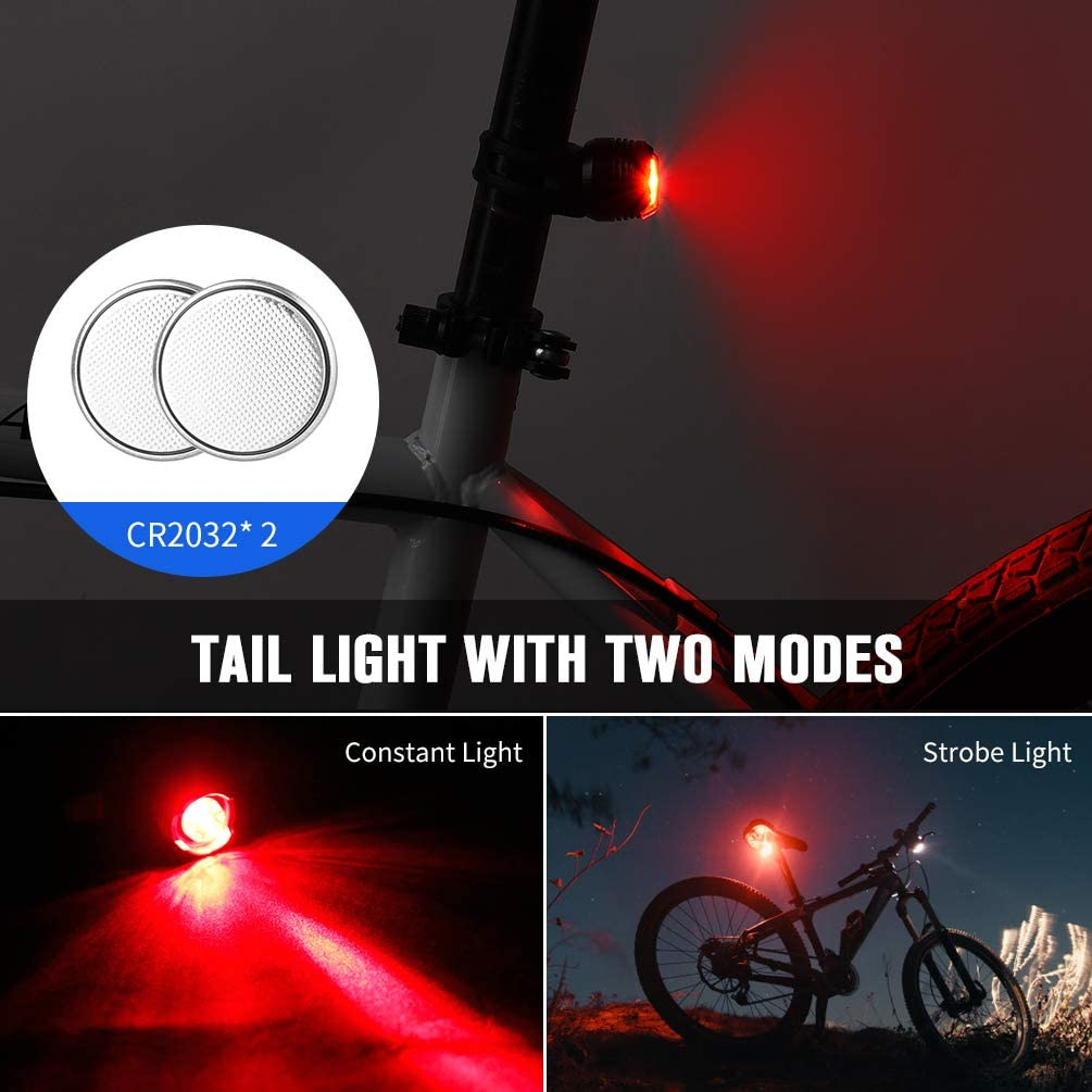 AOPOY Bicycle Cycling Headlight Front Bike Light Mountain Set Bike Headlight Waterproof Bicycle Front Light /& Tail Light with Speedometer Odometer