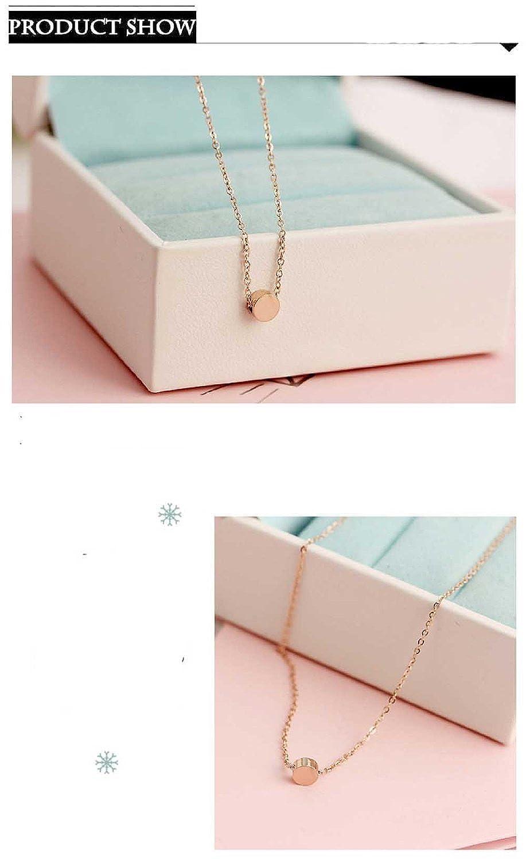 ladies14K plaqu/é or rose en titane acier statuette haricots collier pendentif s1379 boucles doreilles pour les femmes les filles,
