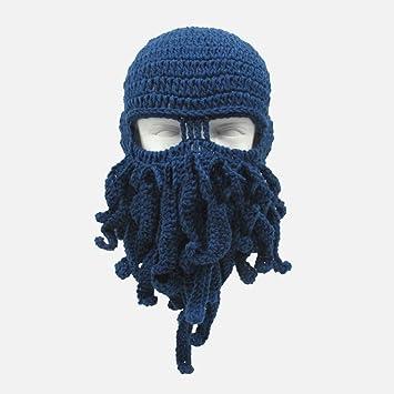 ZKADMZ@ Handgemachte Lustige Tentakel Octopus Hut Häkeln Bart Beanie ...