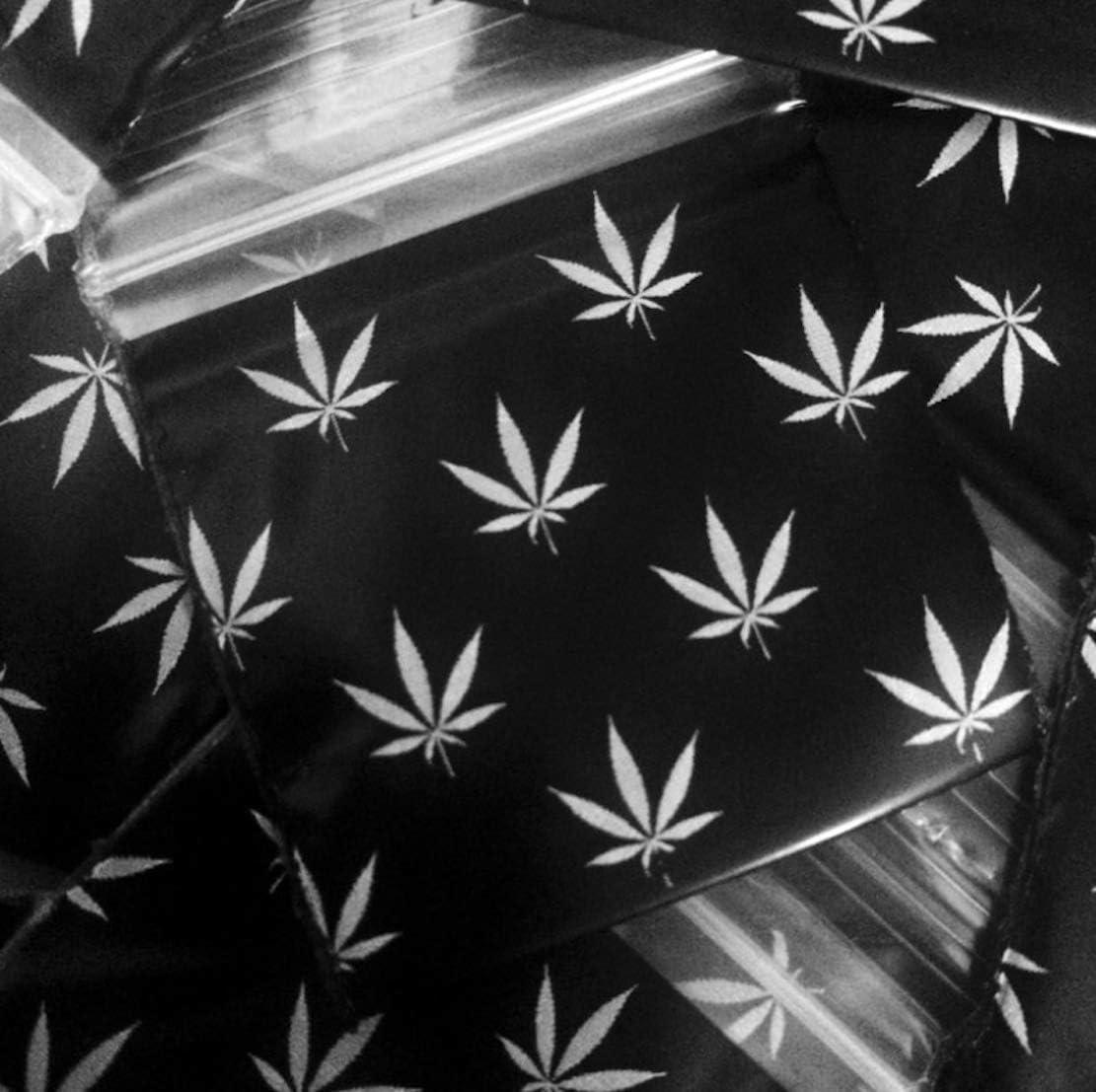 Bolsas de plástico con cierre de cremallera, 200 – 1 x 1 pulgada, con logotipo de hoja de marihuana 2 mil bolsas