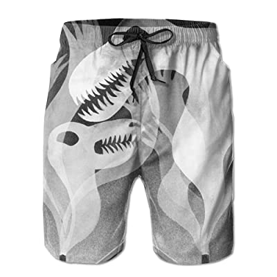 ZAPAGE Boys Quick Dry Swim Trunks Hellish Smog Bathing Suits Swim Trunks With Pockets