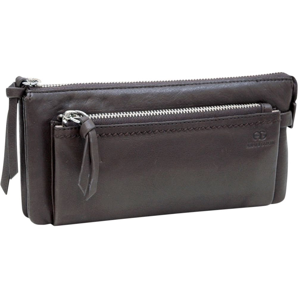 759c41c850 Anais Gvani Women's Smooth Genuine Italian Leather Zipper Pouch Wallet Purse
