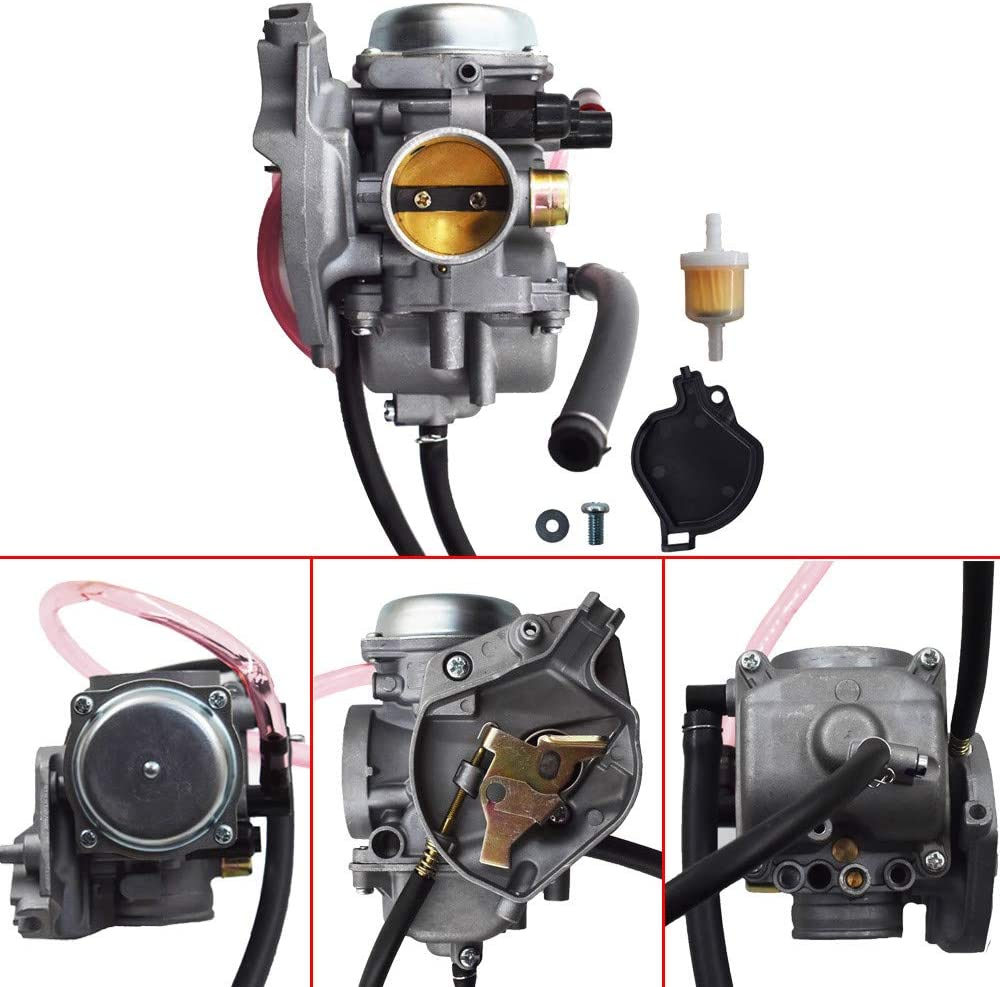 labwork Carburetor Assembly 15004-Y004 Fit for Kawasaki 2012-2018 Brute Force 300/2009 2011-2017 KFX 90