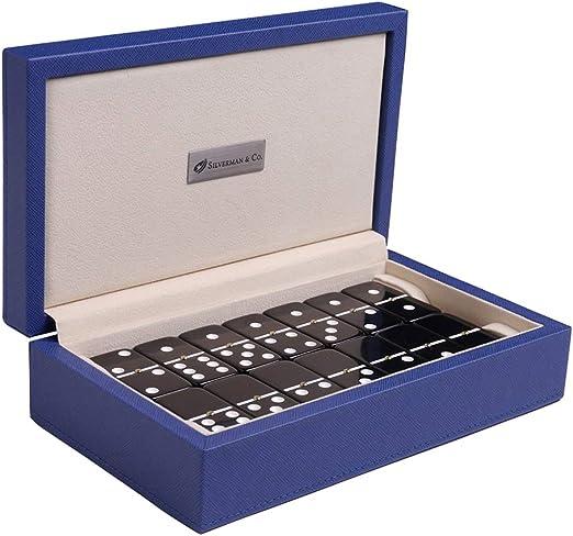 Silverman & Co. Domino - Juego de Cama Doble (6 Unidades, tamaño Grande), Color Negro: Amazon.es: Juguetes y juegos