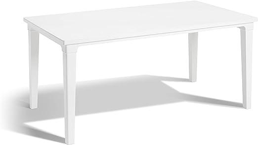 Keter - Mesa de comedor exterior Futura de 6 plazas, Color blanco: Amazon.es: Jardín